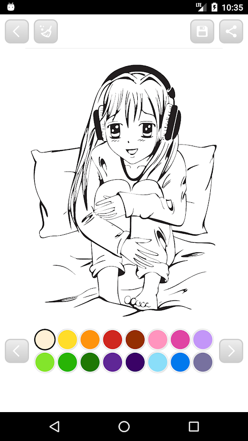 anime manga coloring book screenshot - Manga Coloring Book