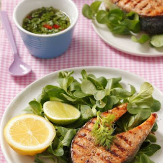 Fish Steak with Lamb's Lettuce