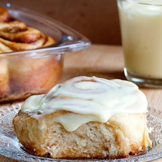 Cinnamon Rolls with Mascarpone Cream Cheese Frosting Recipe