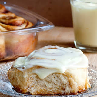Cinnamon Rolls with Mascarpone Cream Cheese Frosting.