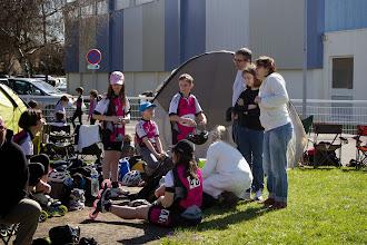 Photo: Pause des enfants après leur 1ère course