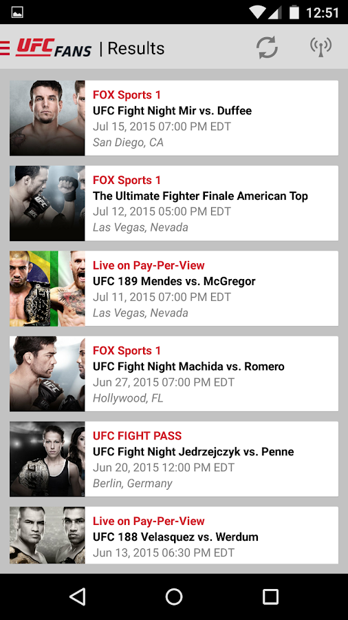 UFC Fans powered by MetroPCS- screenshot
