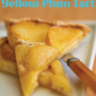 Yellow Plum Flat Tart with Almond Meringue