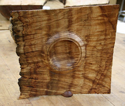 Photo: Stan Wellborn bought this extraordinary camphor burl bowl at the AAW Symposium in San Jose.