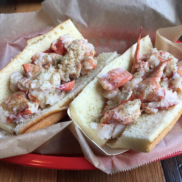 Lobster rolls on gluten free buns