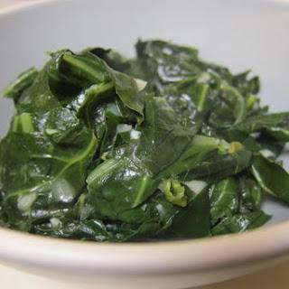 Braised Collard Greens in Spicy Coconut Milk Sauce.