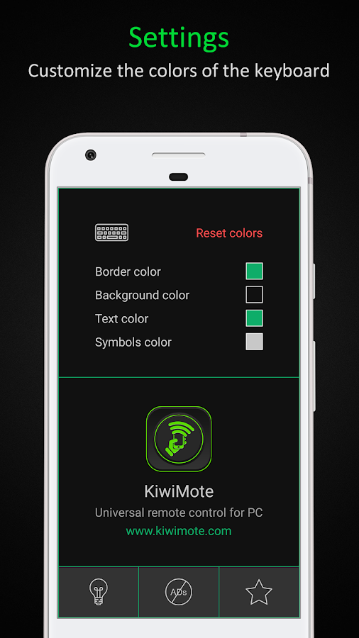 KiwiMote: WiFi Remote Keyboard and Mouse for PC- screenshot