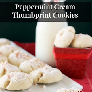 Peppermint Cream Thumbprint Cookie