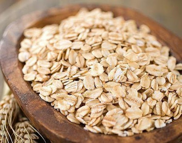 Mix in the rolled oats.