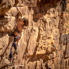 Cassie  by Ryan Skeers - Sports & Fitness Climbing ( climbing, st. george, cassie, utah girls climbing )