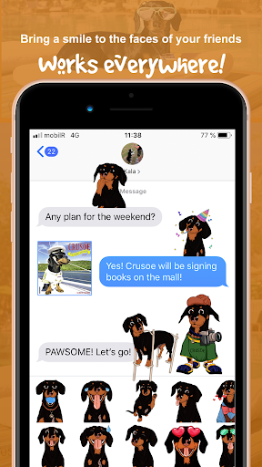 CrusoeMoji - Celebrity Dachshund Wiener Dog Emojis App Report on
