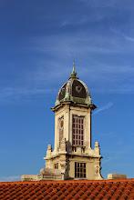 Photo: Beau ciel bleu et belle photo dimanche matin alors que nous allons de l'hôtel à la place Bellecour.