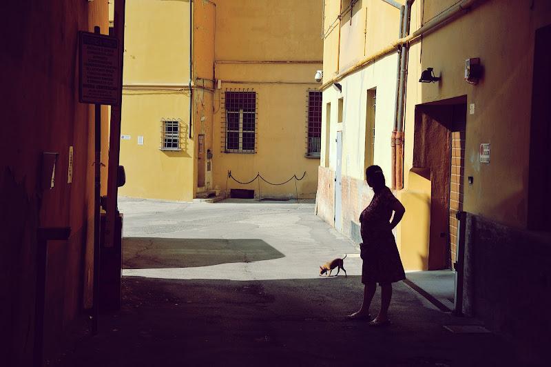 donna con cane  di Luca tesconi