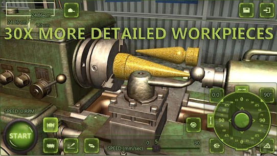 Lathe Machine 3D: Milling & Turning Simulator Game  Apk Download For Android and Iphone 2