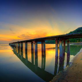Sunset | Kg. Binjal by Izham Khalid - Landscapes Waterscapes ( sunset )