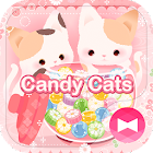 Cute Wallpaper Candy Cats Tema icon