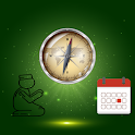Qibla & prayer time & calendar icon