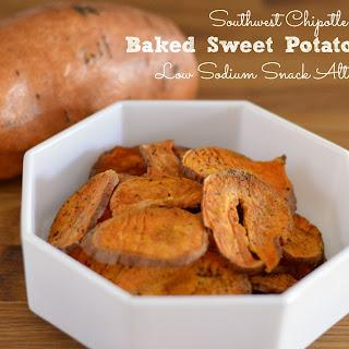 Southwest Chipotle Baked Sweet Potato Chips Recipe