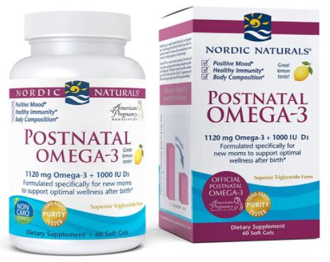 4. Nordic Naturals Omega-3 Postnatal Vitamins