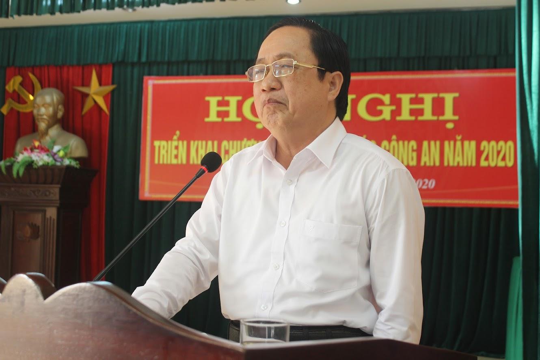 Ông Ngô Phú Hàn, Chủ tịch UBND huyện Hưng Nguyên đánh giá cao kết quả Công an huyện Hưng Nguyên đạt được trong công tác đảm bảo ANTT, phục vụ tốt sự phát triển kinh tế - xã hội của địa phương