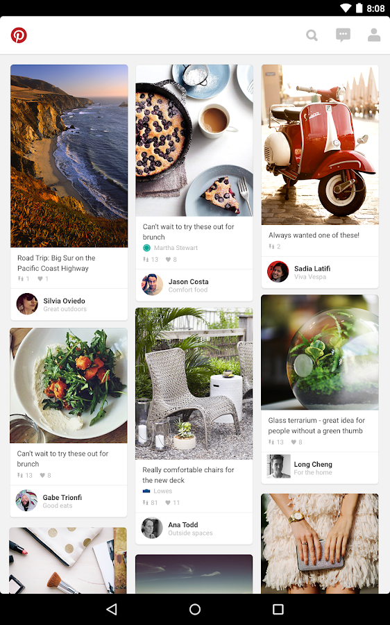 Pinterest - screenshot