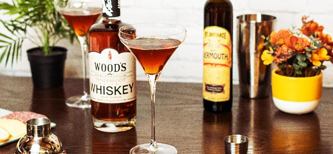 A Manhattan Cocktail In A Martini Glass