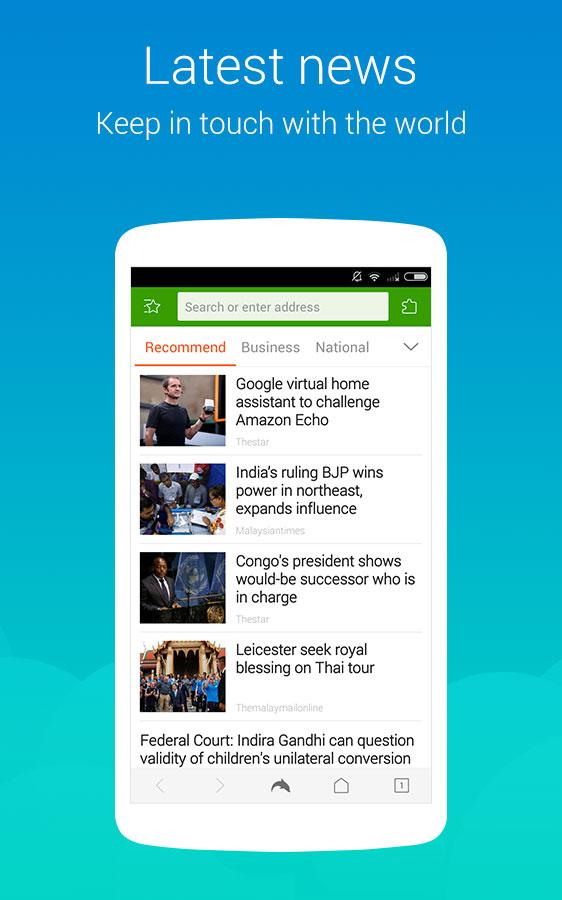 Dolphin Browser Express: News- screenshot