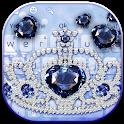 Blue Diamond Crown Keyboard icon