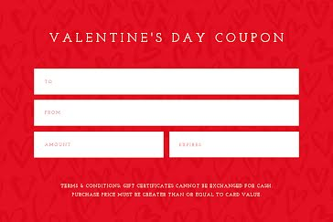Valentine's Coupon - Valentine's Day template