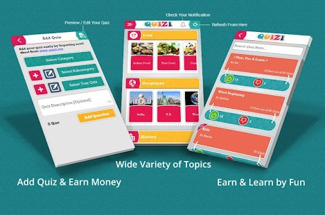 Quizi - Play, Make Quiz & Earn- screenshot thumbnail