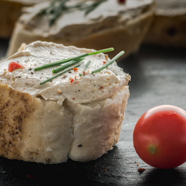 Baguette with fish paste by Marius Radu - Food & Drink Eating ( cherry tomatoes, fish paste, breakfast, baguette, food )