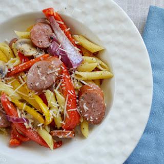 Smoked Sausage with Penne Pasta.