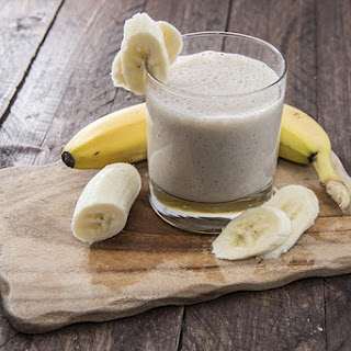 Day-Off Diet Almond Butter Banana Smoothie.