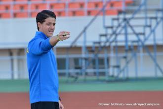 Photo: Coach McKinstry in final training session before game - 13 June 2015  [Training camp ahead of Rwanda Amavubi v Mozambique on 14 June 2015 (Pic © Darren McKinstry / www.johnnymckinstry.com)]