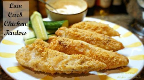 """Low Carb Chicken Tenders """"This low carb option for crispy chicken tenders..."""