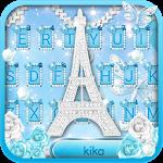Lux Blue Butterfly Tower Keyboard Theme