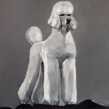 "Photo: Whielki Krasnal ""We all Love the Poodle"". 2008. Oil on canvas. 90 x 90 cm"