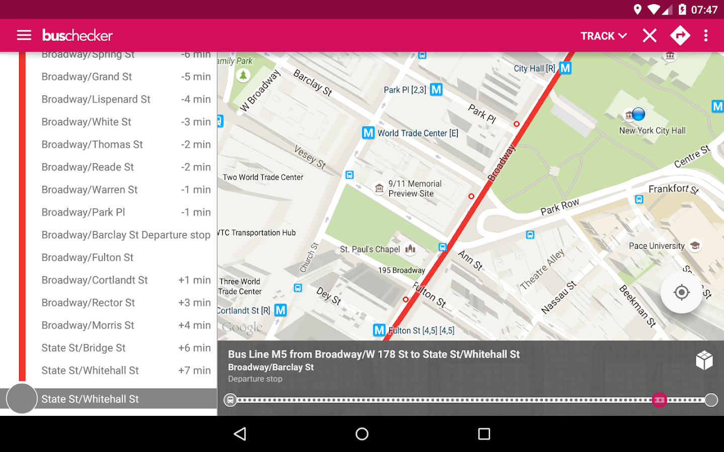 NYC Bus Checker Live Times Android Apps On Google Play - Nyc map app android