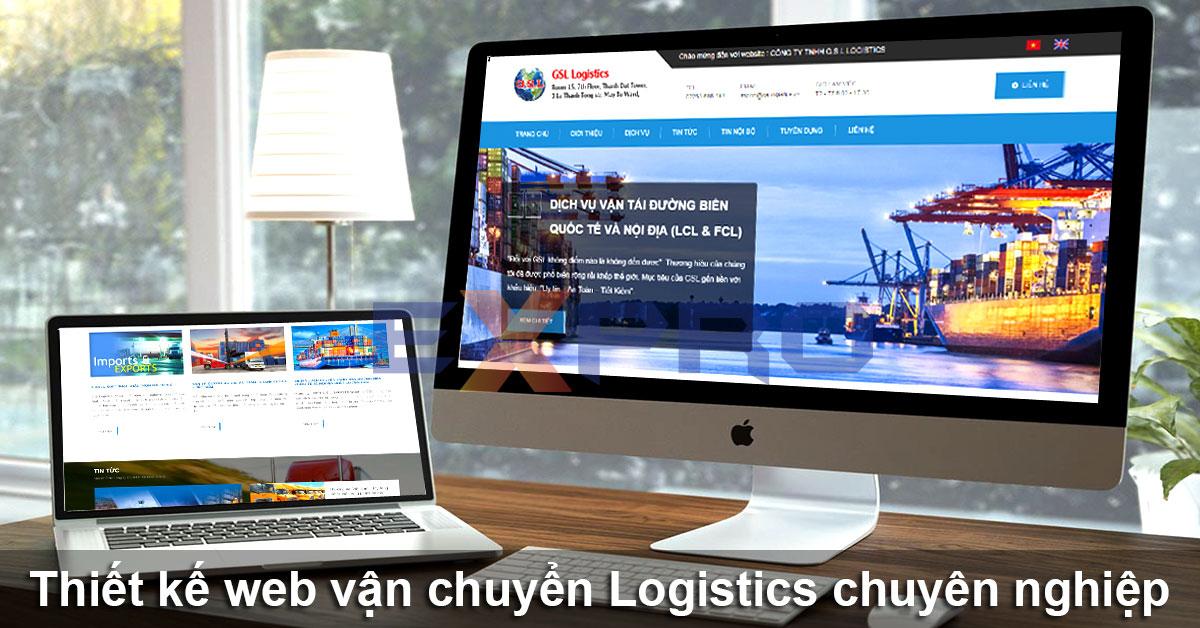 thiết kế website vận chuyển