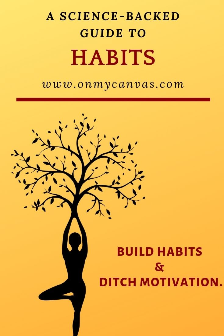 pinterest image for article about habits, the habit loop, and importance of habits