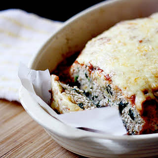 Spinach and Ricotta Turkey Meatloaf.