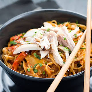 Thai Curry Noodles with Chicken.