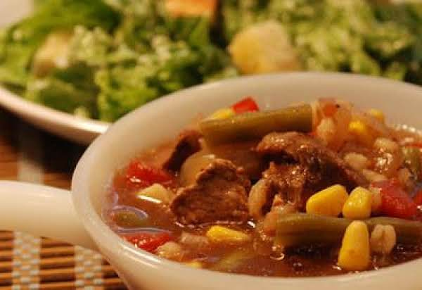 Slow Cooker Vegetable Beef Barley Soup Recipe