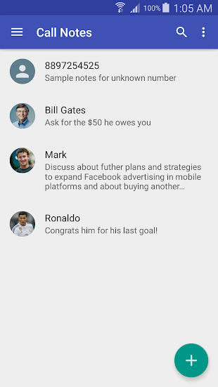 Call Notes (Floating) - Lite- screenshot thumbnail