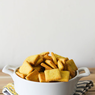 Homemade Vegan Cheez-It Crackers