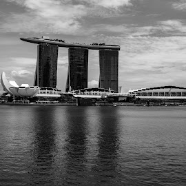 Marina Sands by Bert Templeton - Black & White Buildings & Architecture ( singapore, marina, casino, black and white, sands )