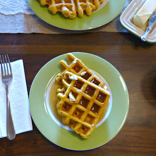 Shortcut Pumpkin Spice Waffles
