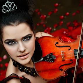 STRIKER by Michael Tamura - People Portraits of Women ( music, love, girl, violin, heaven, string, hot, symphony, women )