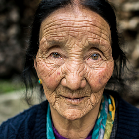 Portrait by Sandip Ghose - People Portraits of Women ( lachen, old women, sandip_photography, d3100, sikkim )