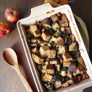 Kale, Caramelized Onion and Apple Stuffing.